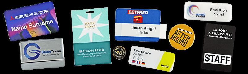 Badges nominatifs et promotionnels