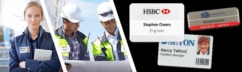 Badges pour services de maintenance, d'entretien et de sécurité