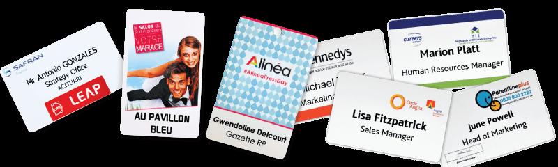 Badges d'identification et cartes d'accès