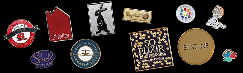 Badges en métal