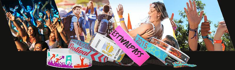 Bracelets pour festivals et concerts