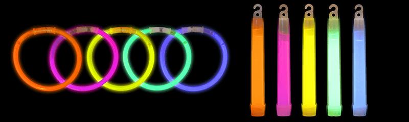 Bracelets et bâtons lumineux