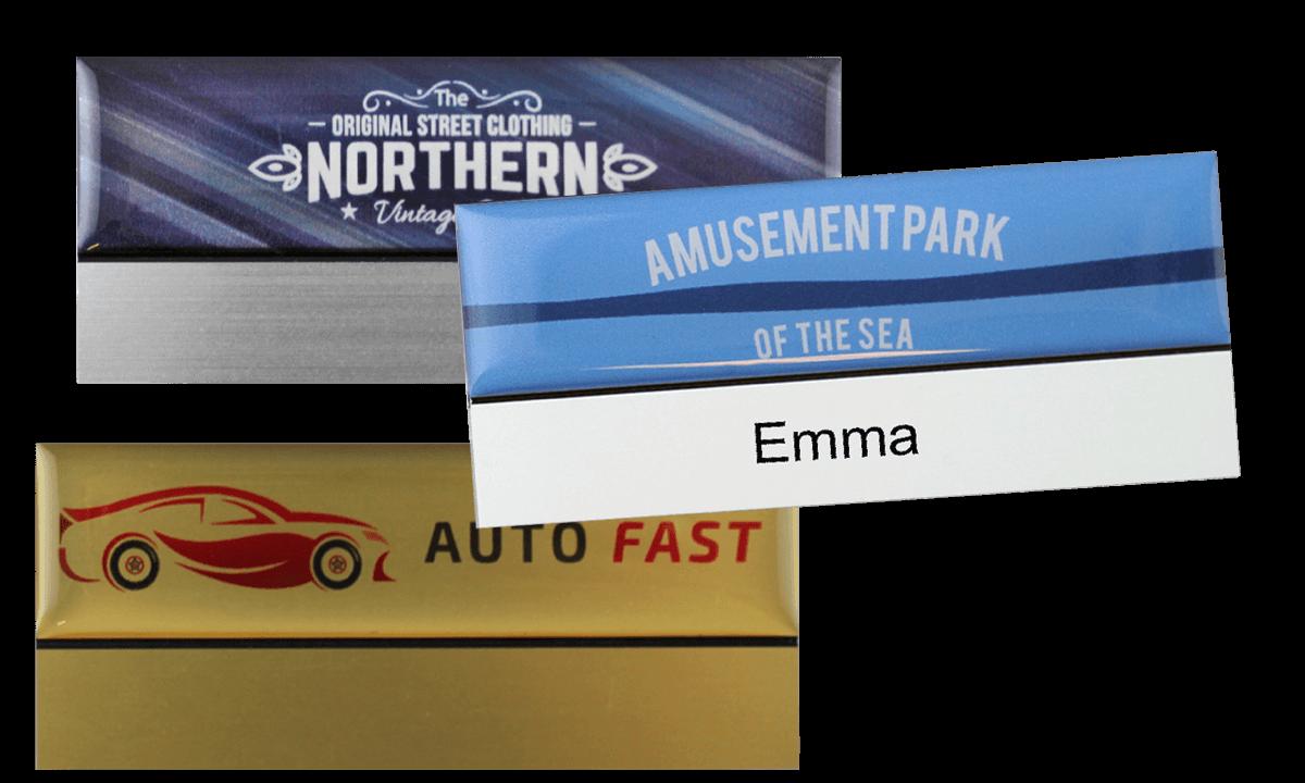 Badges nominatifs Premium Réutilisables pour étiquettes adhésives 12 mm, 75 X 32 mm