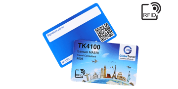 Cartes RFID 86 x 54 mm Imprimées - Puce TK 4100