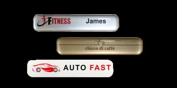 Badges nominatifs Premium Impress, 75 X 15 mm