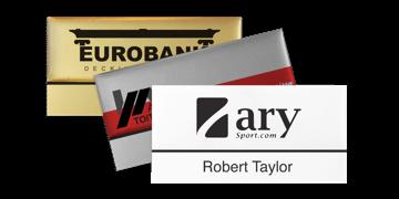 Badges nominatifs Premium Réutilisables pour étiquettes adhésives 12 mm, 75 X 38 mm
