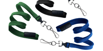 Cordons tubulaires 10mm avec attache anti-étranglement et mousqueton en métal