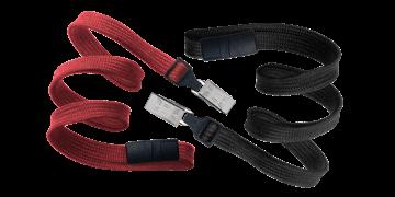 Cordons tubulaires 10mm avec attache anti-étranglement et pince crocodile