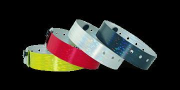 Bracelets Holographiques, 19 mm, motif strié, sans impression